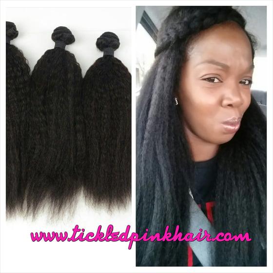 Image of Pure Raw Kinky Straight Virgin Hair Single OR 3 Bundle Deals
