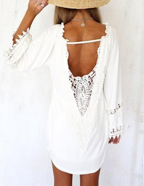 Image of V-neck sexy long-sleeved dress HIGH QUALITY