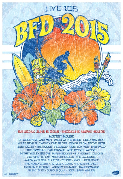 Image of Live 105 BFD 2015 Poster