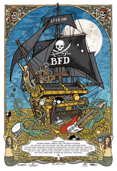 Image of Live 105 BFD 2012 Poster