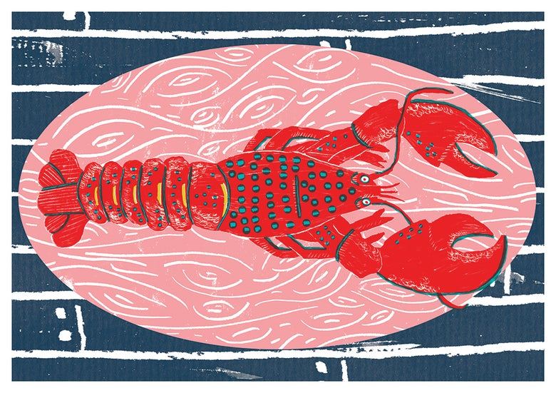 Image of Lobster Print