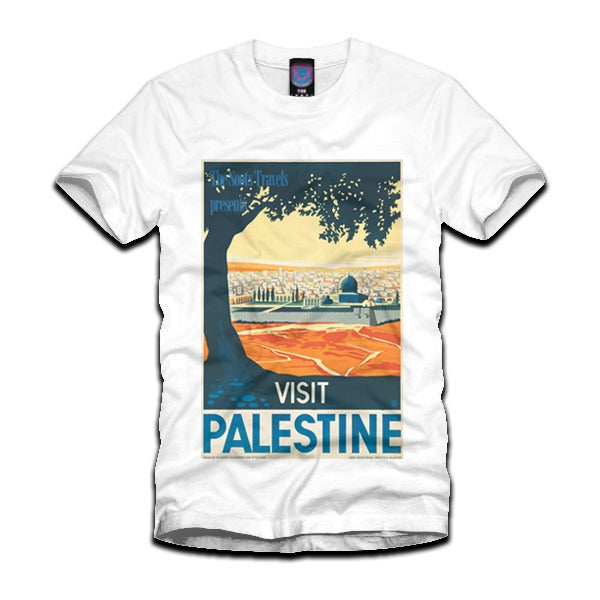Image of 'Visit Palestine' Retro Poster Tee