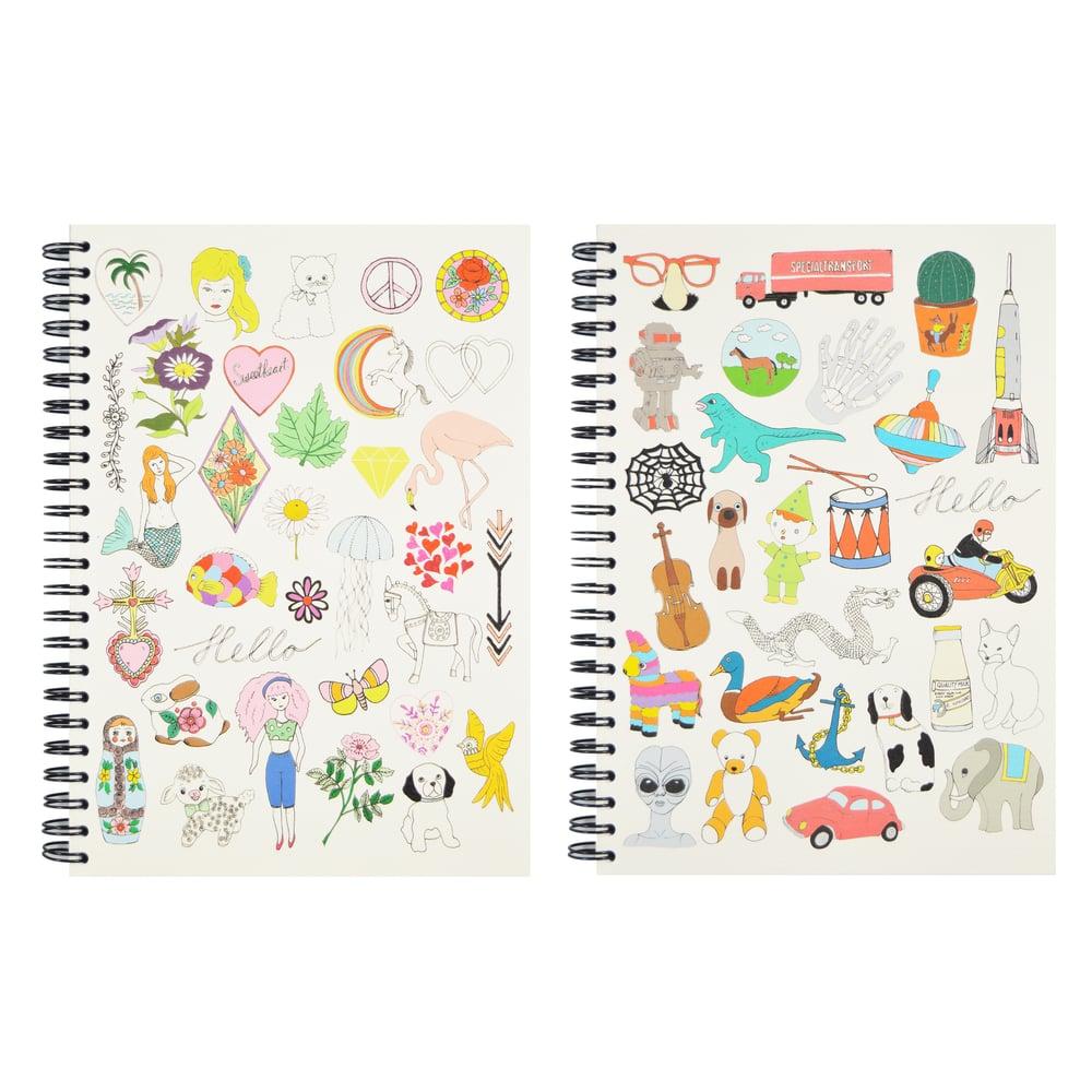 Image of Hello Girls & Hello Boys A5 Spiral Notebook