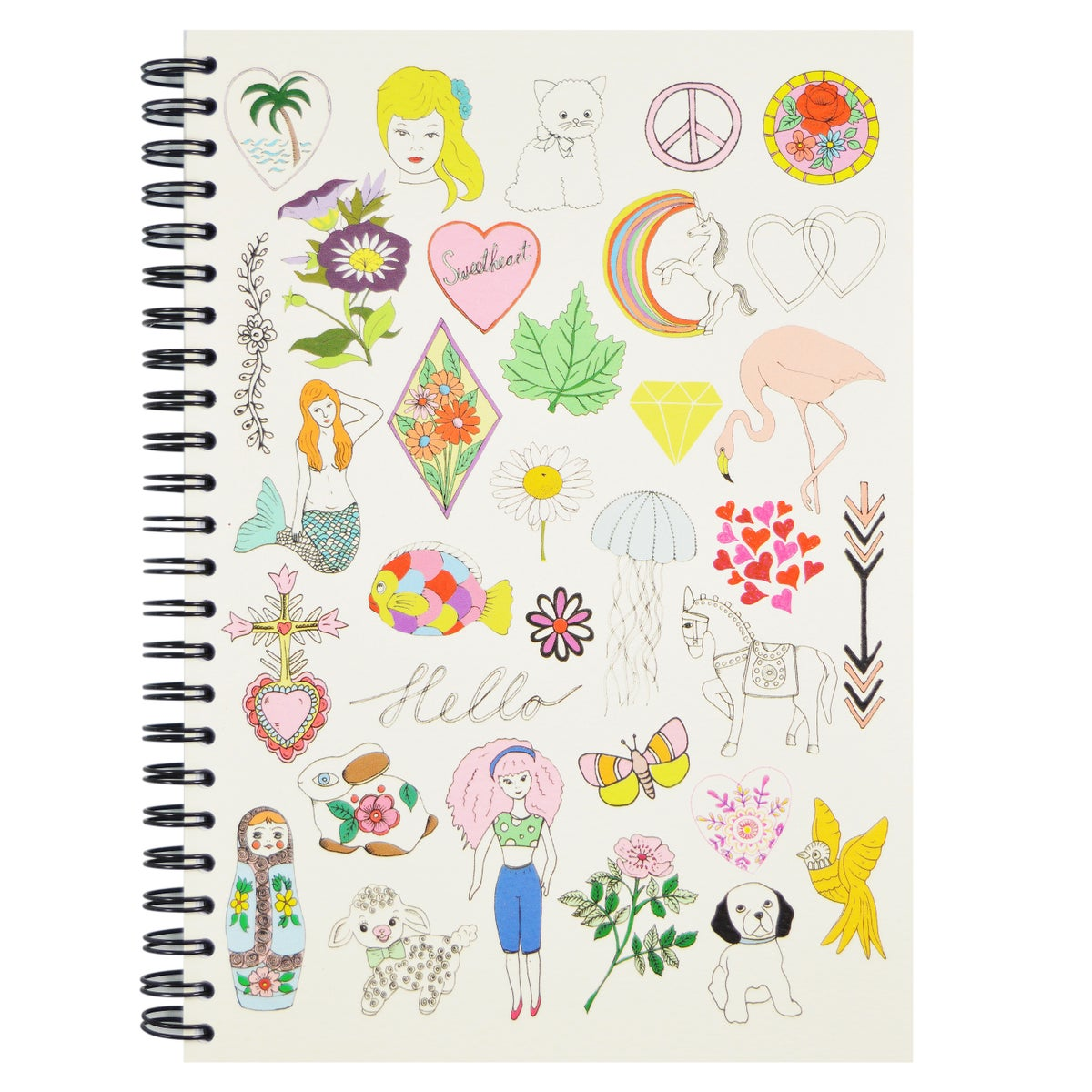 Hello Girls & Hello Boys A5 Spiral Notebook