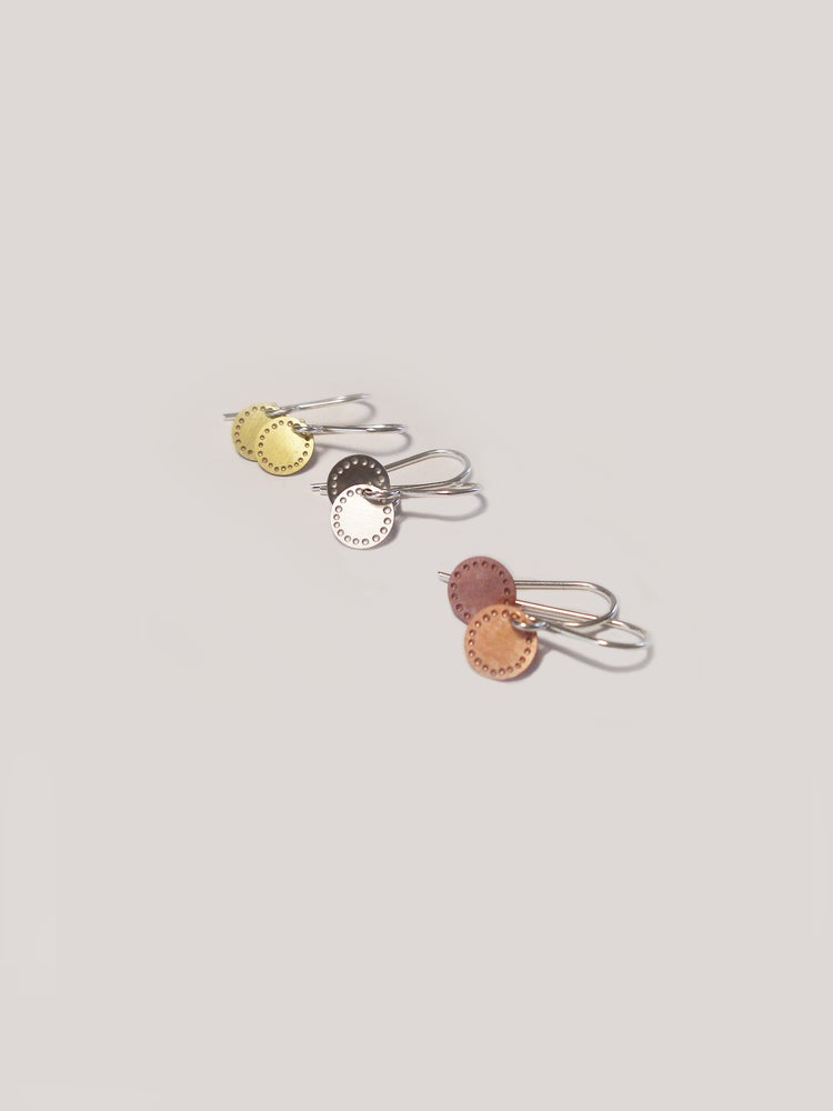 Image of DOT EARRING: BLOSSOM (COPPER)