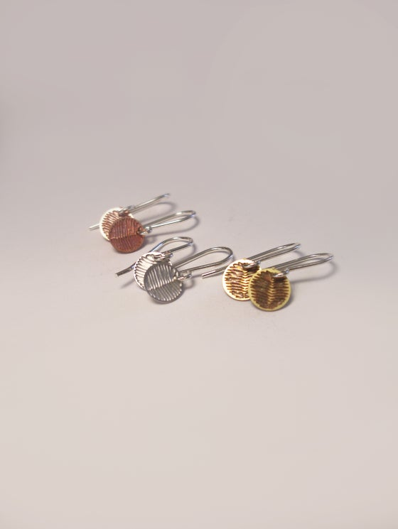 Image of DOT EARRING: WATTLE (BRASS/COPPER/ST STEEL)