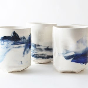 Image of set of 2 - altered tumblers
