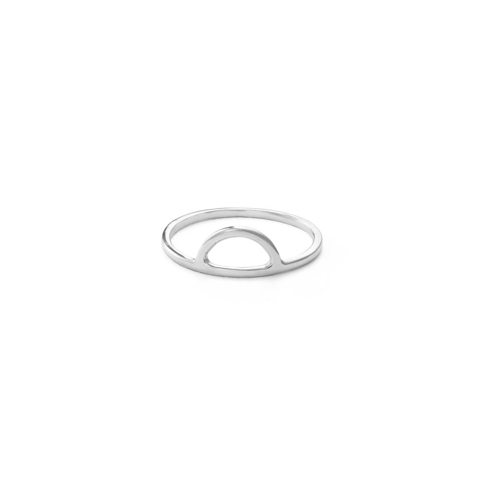 Image of Half Moon Ring - Sterling Silver