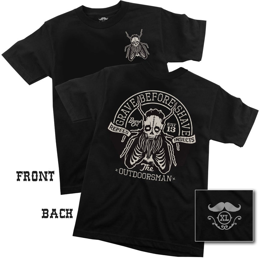 "Image of GRAVE BEFORE SHAVE ""OUTDOORSMAN BLEND"" Tee shirt"