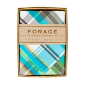 Image of teal plaid {handkerchief}