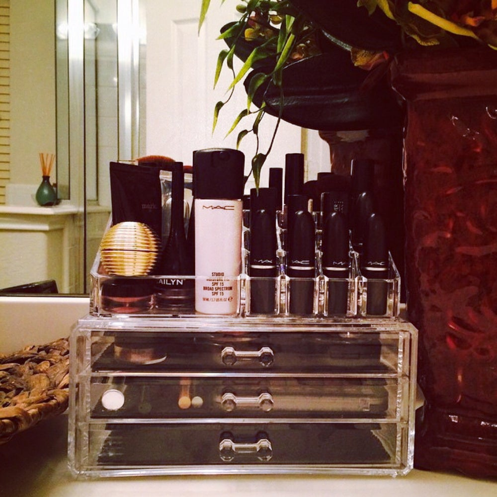 Image of 'See Thru' Acrylic Makeup Organizer