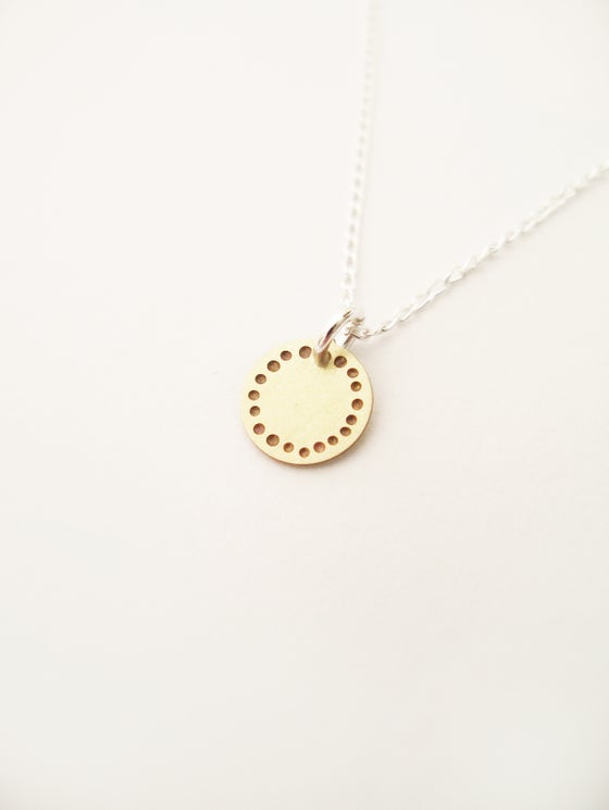 Image of DOT NECKLACE: BLOSSOM (BRASS)