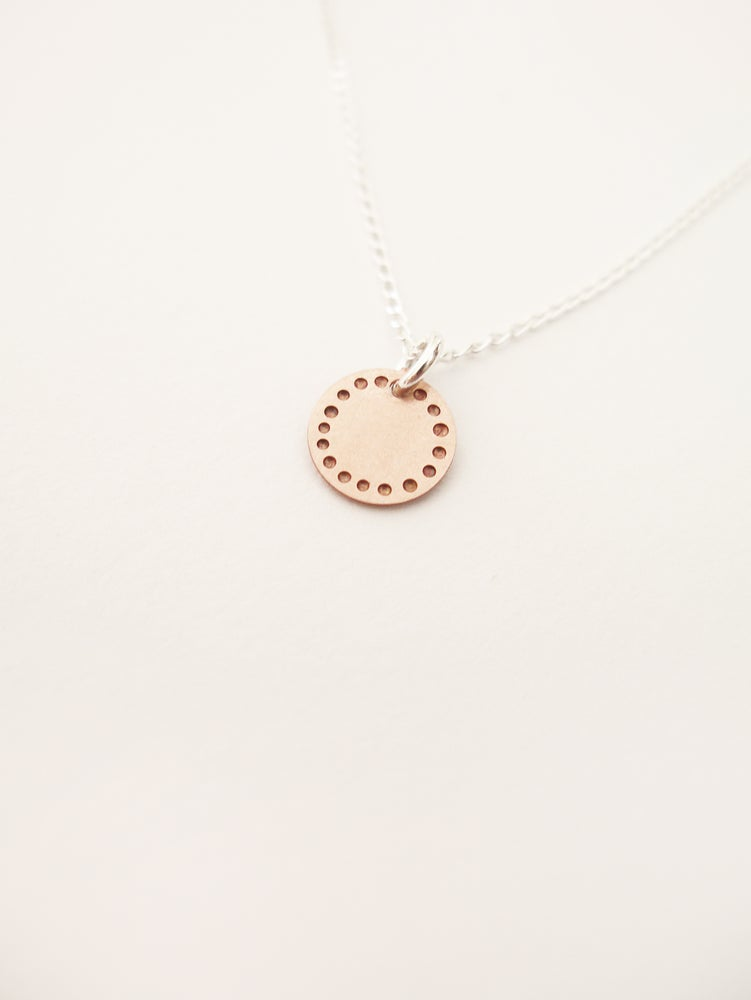 Image of DOT NECKLACE: BLOSSOM (COPPER)