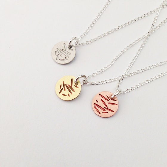 Image of DOT NECKLACE: POLLEN (BRASS/COPPER/STAINLESS STEEL)