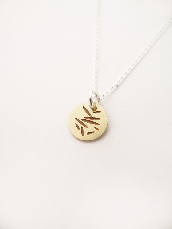 Image of DOT NECKLACE: POLLEN (BRASS)