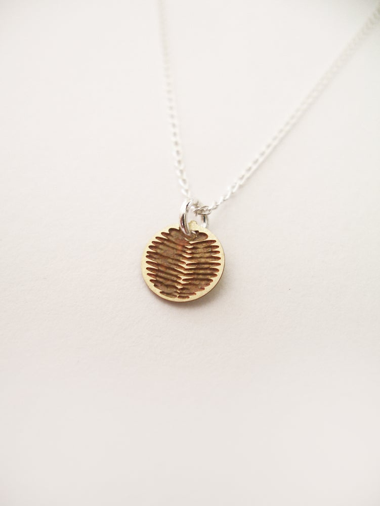 Image of DOT NECKLACE: WATTLE (BRASS)