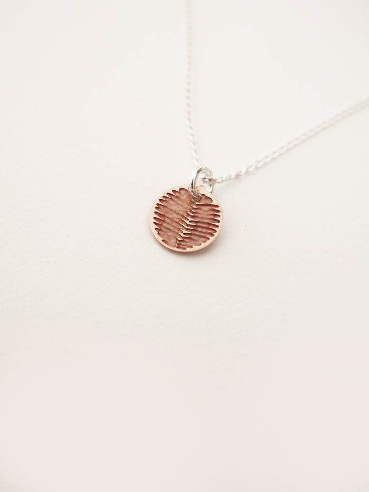 Image of DOT NECKLACE: WATTLE (COPPER)