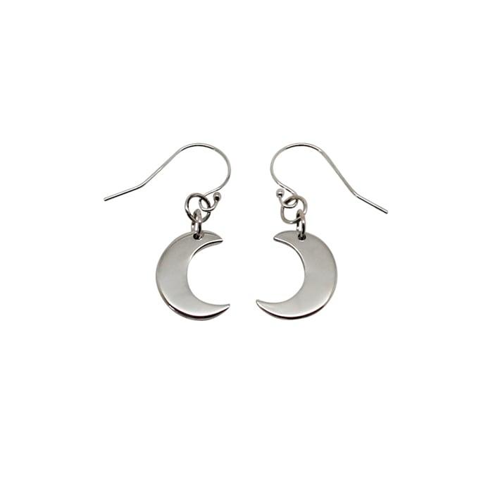 """Image of """"Little"""" Moon Sterling Silver Earrings"""