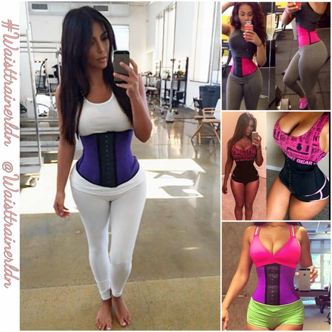 Image of 'The fashionista one' Latex Sports Corset workout Waist Trainer Faja