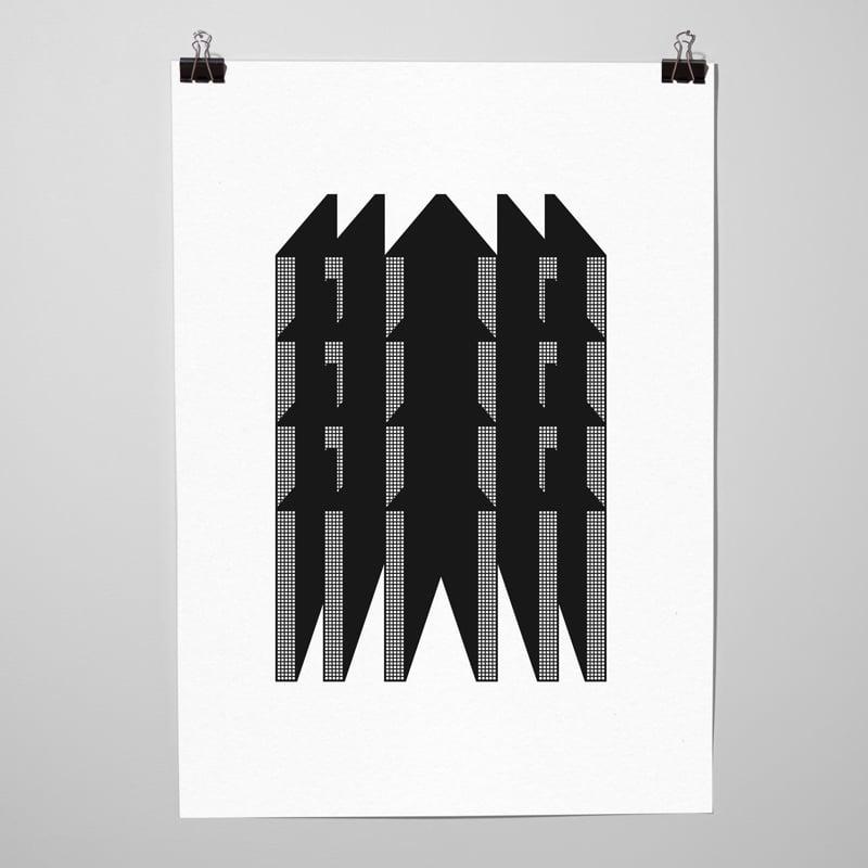 """Image of Sérigraphie """"Projet grosse maison"""" par l'Atelier La Casse"""