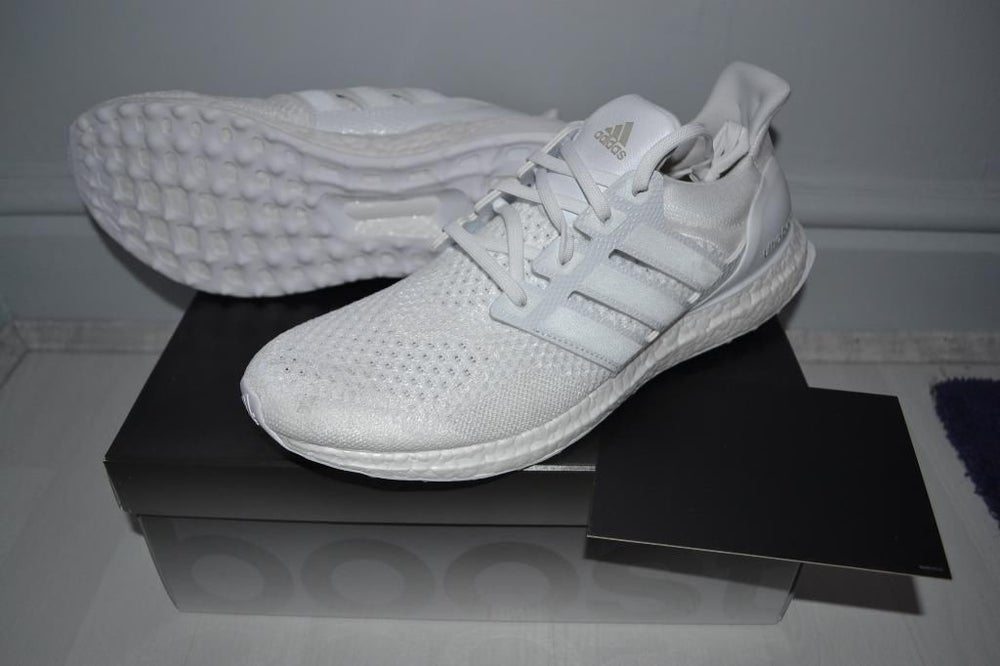374c801c0496 Image of Adidas ultra boost J D triple white by Dirk Schönberger and James  Carnes