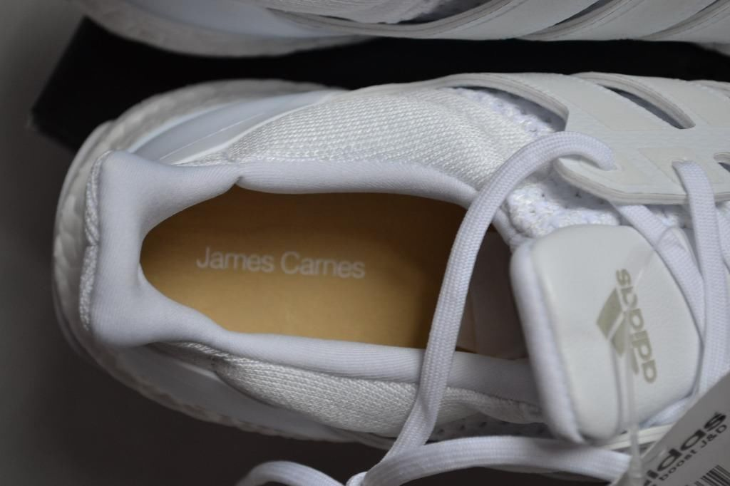 Image of Adidas ultra boost J&D triple white by Dirk Schönberger and James Carnes