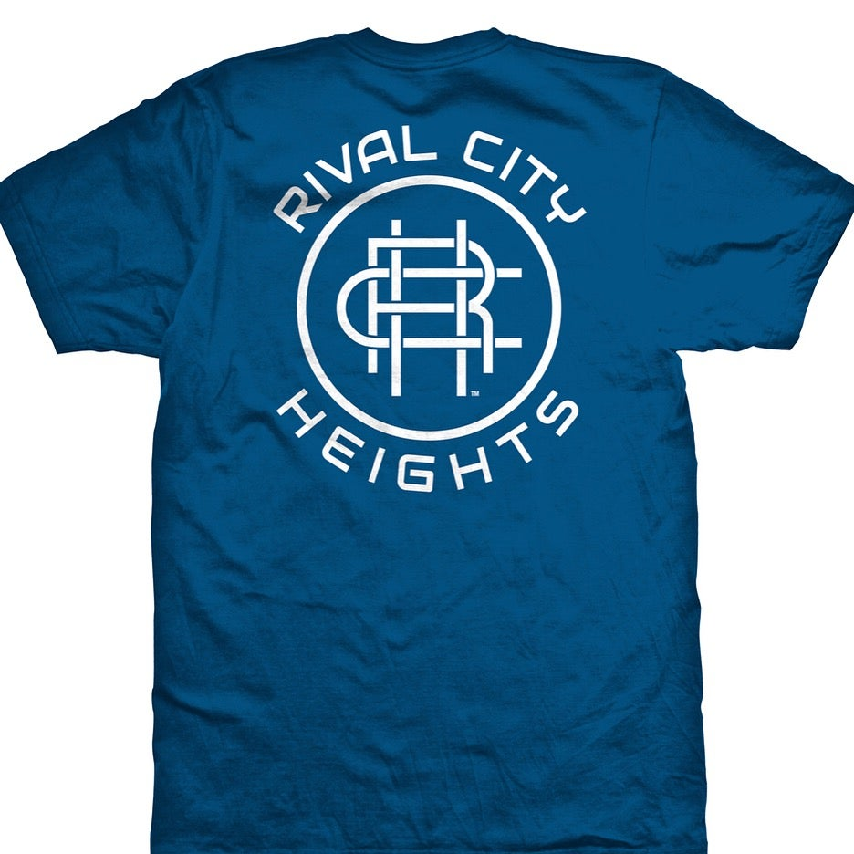 Image of RCH-Blue/Light Silver uni-sex T