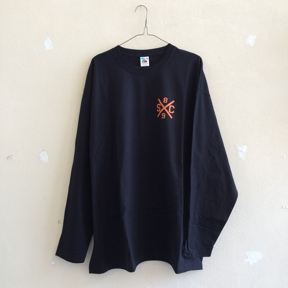 Image of Fighting Irish L/S Tee - Black/Orange