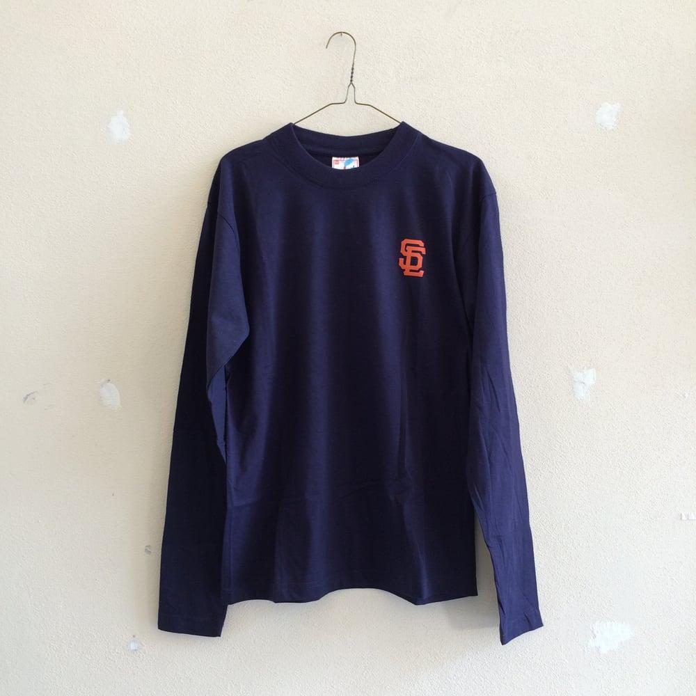 Image of SC L/S Tee - Dark Blue/Orange