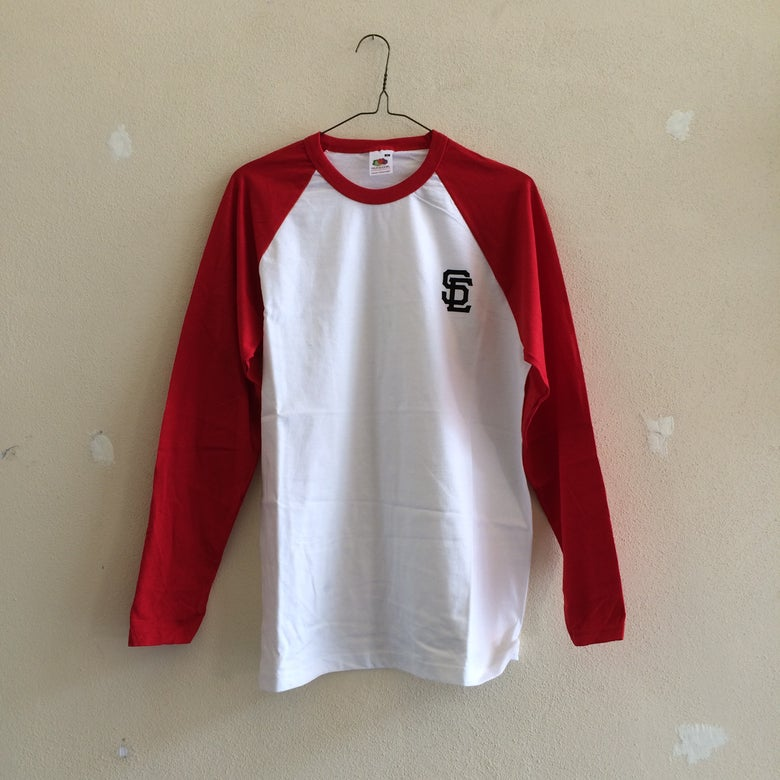 Image of SC L/S Tee - Raglan Red/White