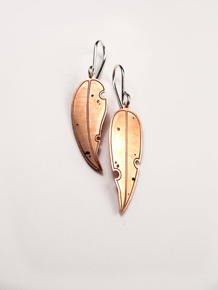 Image of LEAF EARRING: EUCALYPTUS (COPPER)