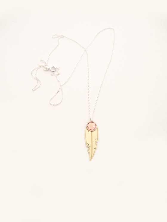 Image of LEAF NECKLACE: GUM DOT BLOSSOM (BRASS)