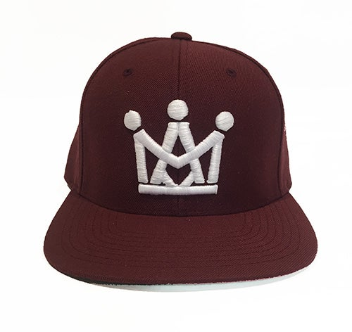 Image of BURGUNDY CROWN SNAPBACK
