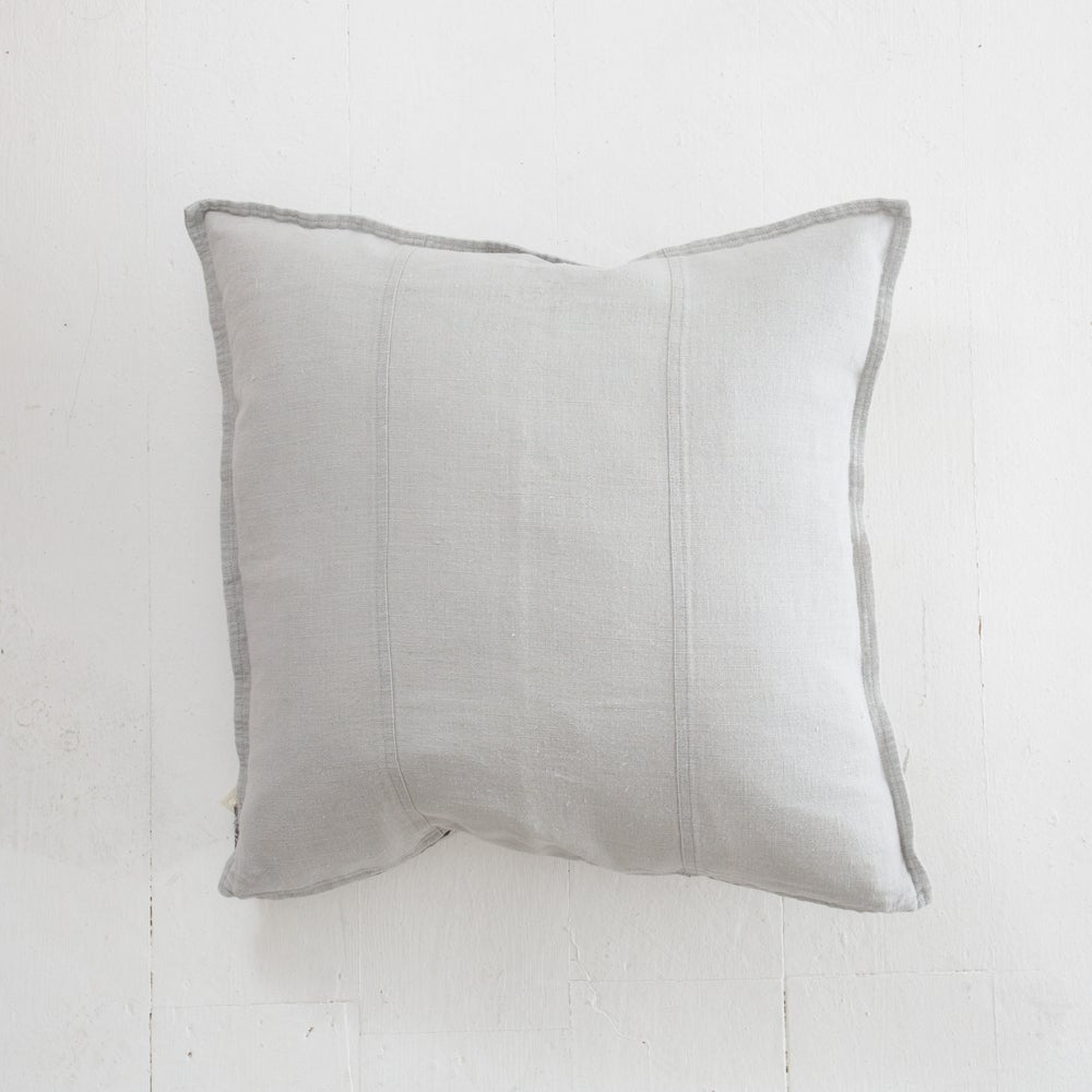 Image of Pre washed linen cushion 50x50- silver grey