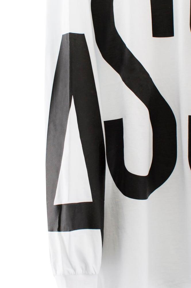 Image of ASSK WRAP LOGO T-shirt - White