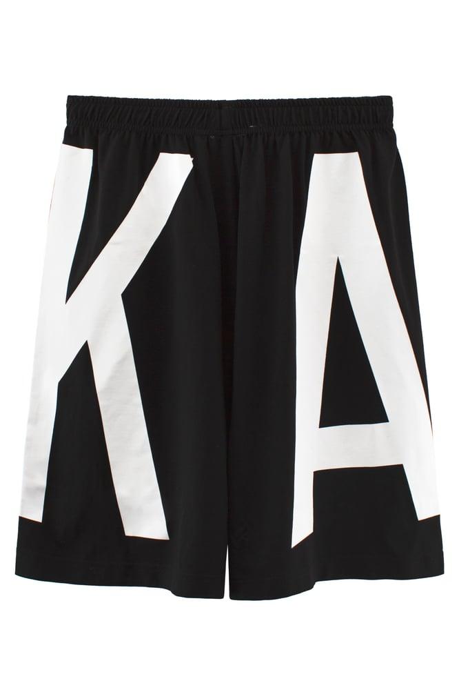 Image of ASSK WRAP LOGO Shorts - Black