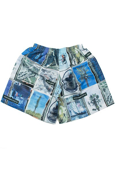 Image of WARPED COLLAGE Shorts - Colour