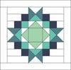 North Star Mini Quilt #116, PDF