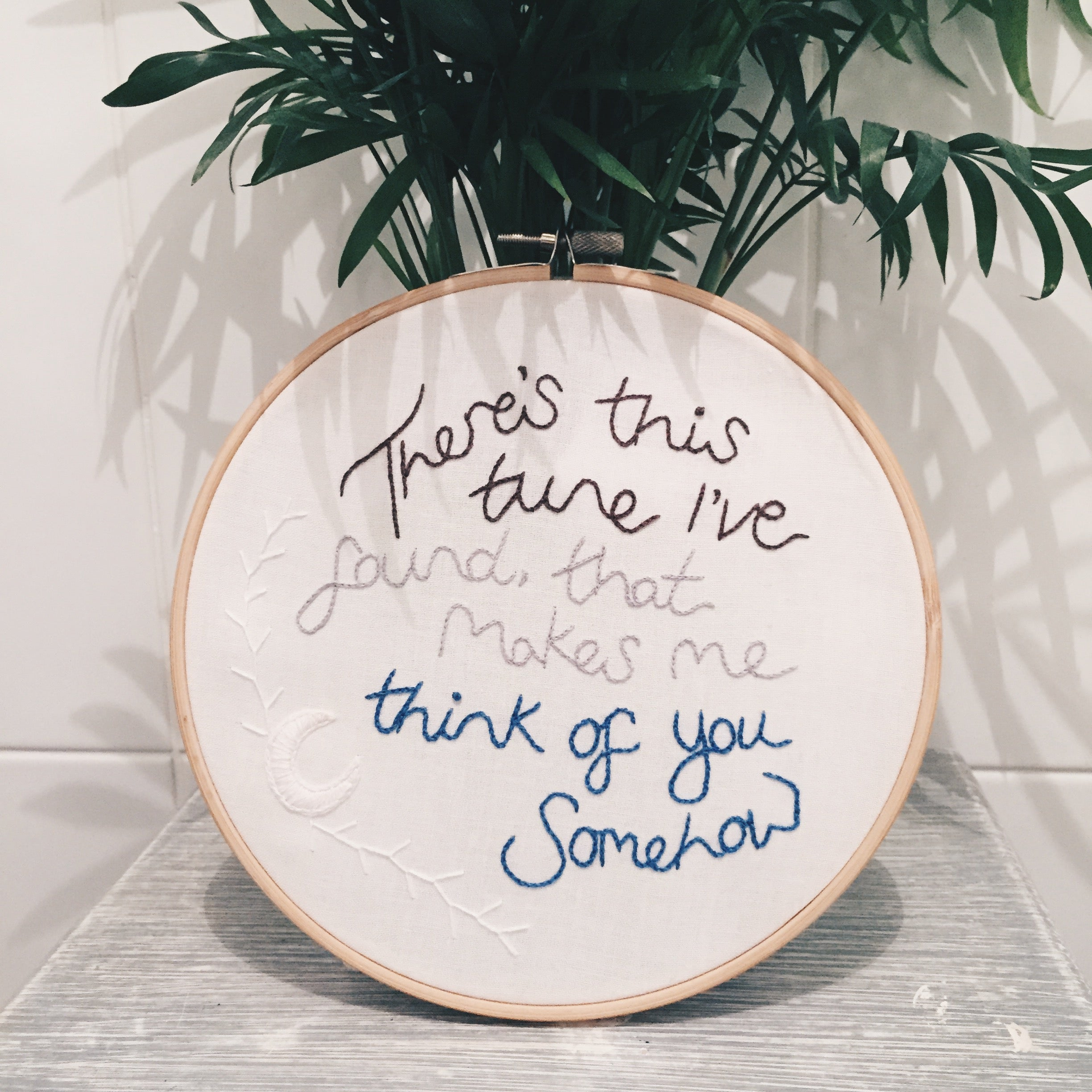 Pinedale Drive Arctic Monkeys Song Lyrics Hand Embroidery To White