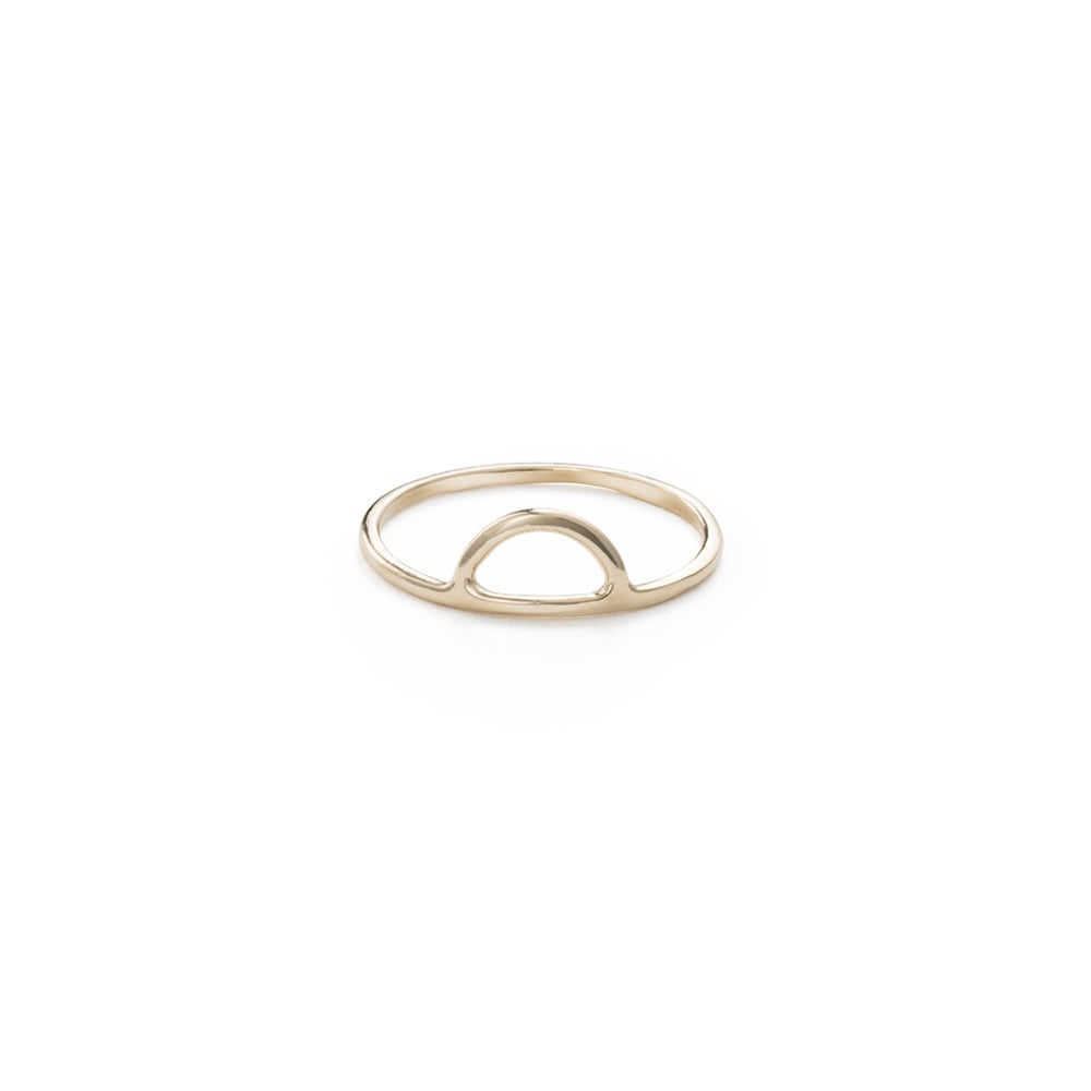 Image of Half Moon Ring - 14k Gold