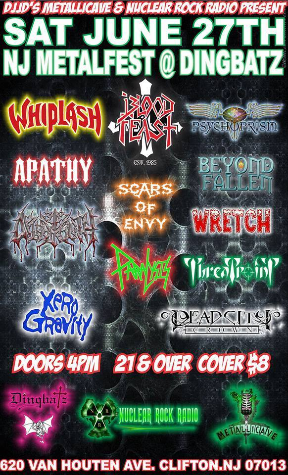 Image of Tickets - NJ Metalfest - June 27th Dingbatz, Clifton, NJ