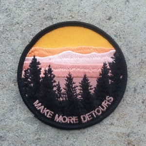 Image of Make More Detours Iron On Patch ©️
