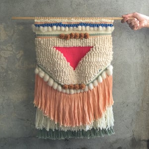 Image of HANDMADE LARGE WALL WEAVING 21