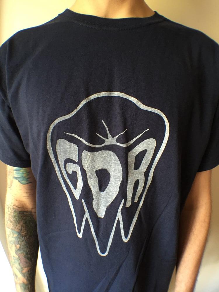 Image of Grandad records - GDR logo tee - FREE CD