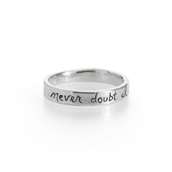 Image of I love thee silver shakespeare wedding ring