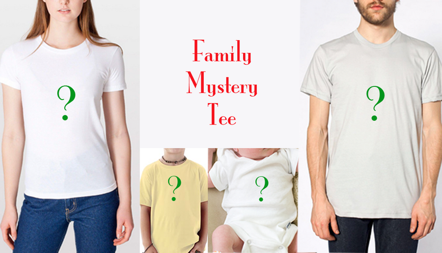 Image of Free Shipping Family Mystery Tee/Toddler Tee/Baby Onesie