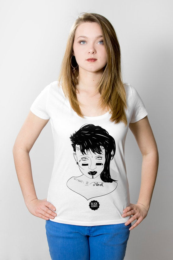 Image of Punk - Tee-shirt col rond femme