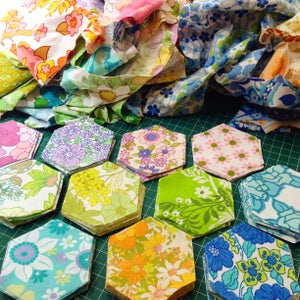 Image of Vintage Sheet Hexies