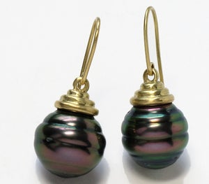 Image of Tahitian Black Pearl Earring
