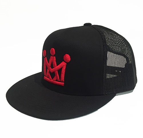 Image of BLACK/RED CROWN TRUCKER